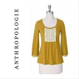 Anthro C. Keer | marigold lace bib tee